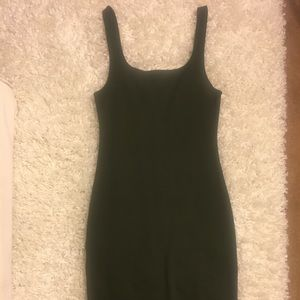 Olive green bodycon tank dress